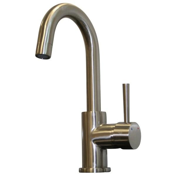 Ideal Brushed Nickel Single Lever Centerset Bathroom Faucet
