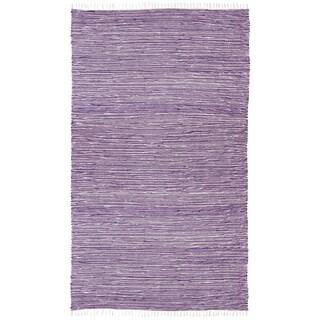 Purple Reversible Chenille Flat Weave Rug (4' x 6')