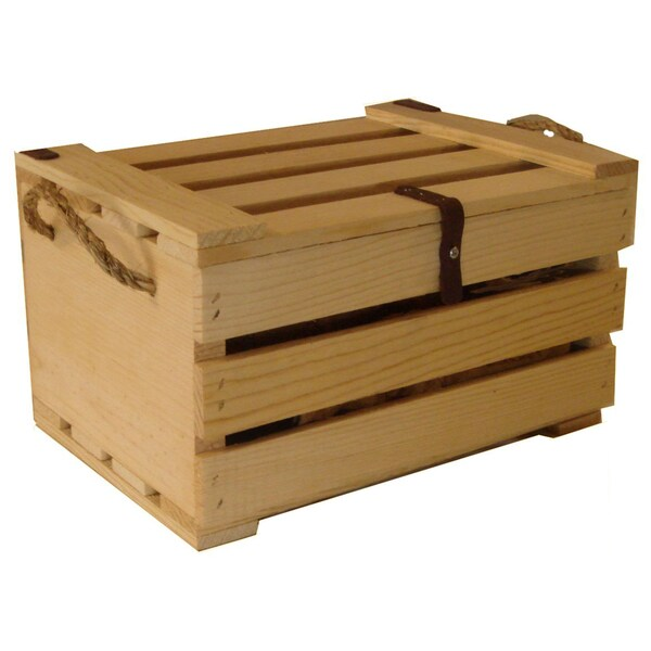 Medium Wooden Covered Crate