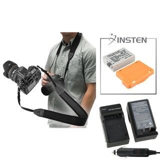 INSTEN Battery/ Chargers/ Neck Strap for Canon EOS Rebel T2i/ Kiss X5