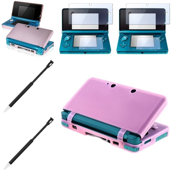 BasAcc Aluminum Case/ Screen Protector/ Stylus for Nintendo 3DS
