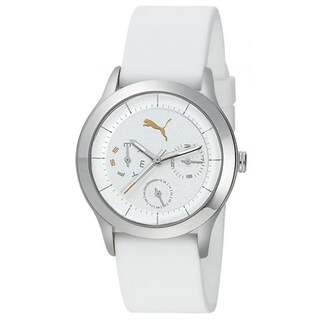 Puma Limited Edition Women's Motor White Polyurethane and White Dial Quartz Watch