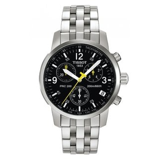 Tissot Men's T17158652 'PRC 200' Black Dial Chronograph Watch