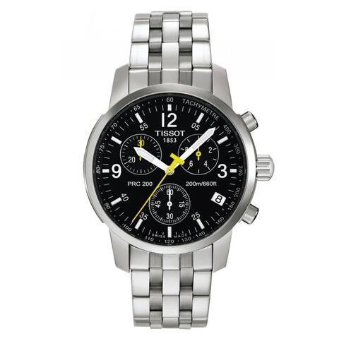 Tissot Men's T17158652 'PRC 200' Black Dial Chronograph Watch