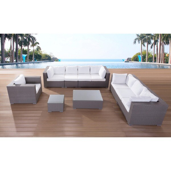 Modern Outdoor Furniture Maestro Wicker Lounge Set Free Shipping Today Ov