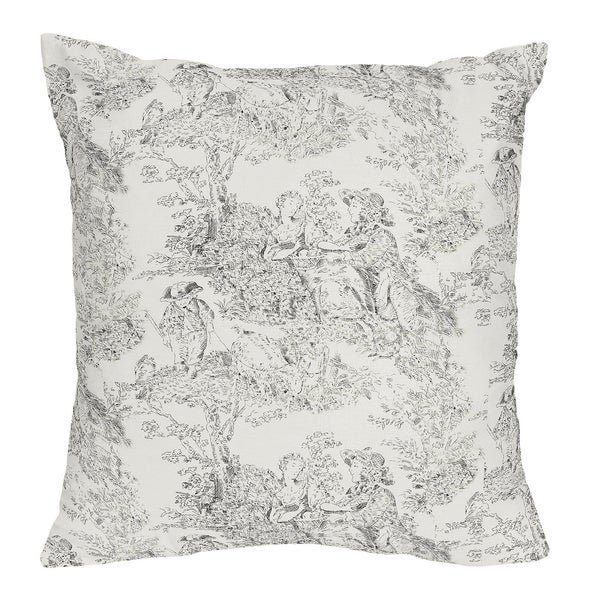 french toile decorative accent throw pillow free. Black Bedroom Furniture Sets. Home Design Ideas