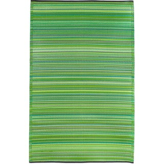 Handmade Thom Filicia Ackerman Key Lime Green Rug 5 X 8
