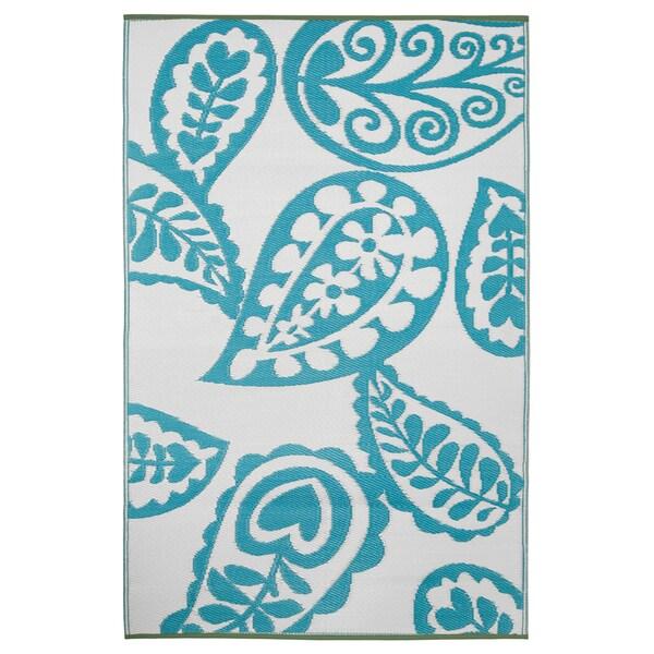 Prater Mills Indoor/Outdoor Reversible Blue/ White Rug