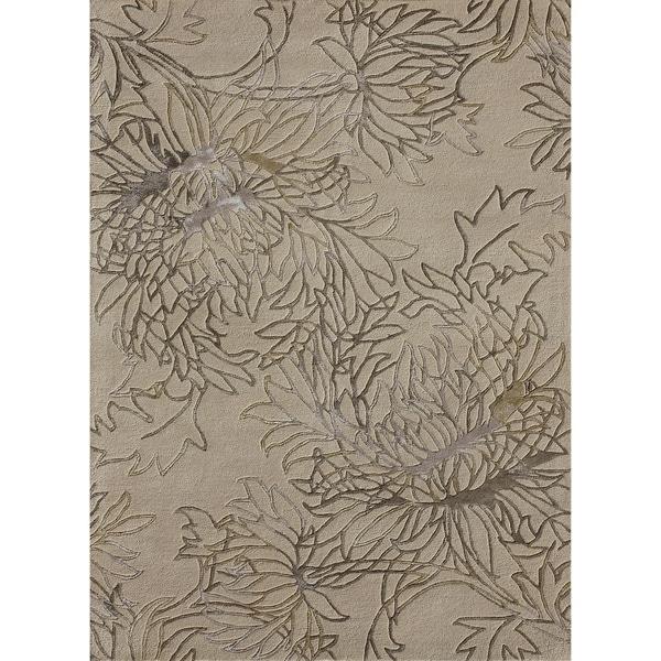 Hand-tufted Jackson Beige Wool Rug (7'10 x 11')