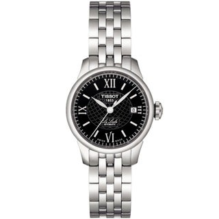 Tissot Women's 'Le Locle' Steel Black Dial Automatic Watch