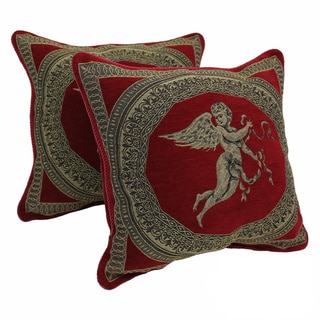 Blazing Needles 'Angels' Chenille Corded Throw Pillows (Set of 2)