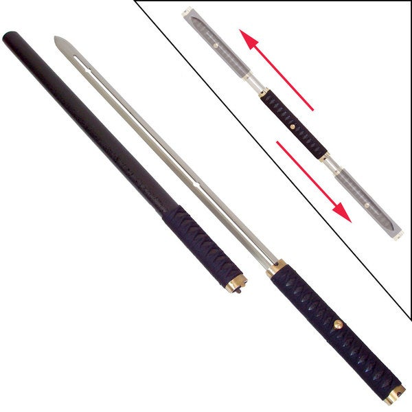 Ninja Sliding Handle Wood Scabbard Two-blade Sword