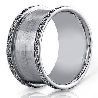 Victoria Kay Sterling Silver Men's 1/4ct TDW Diamond Band (J-K, I2-I3)