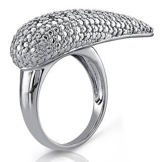 Victoria Kay Sterling Silver 1/5ct TDW White Diamond Novelty Ring (J-K, I2-I3)