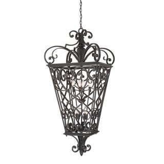 Quoizel Fort Quinn Extra Large Eight-Light Hanging Lantern