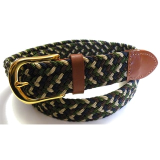 Men's Navy Mix Woven Stretch Belt