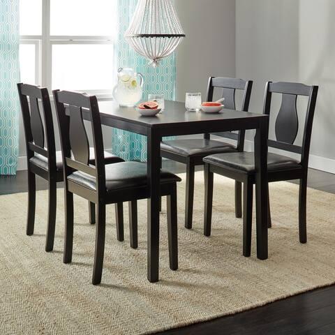 Simple Living Black 5-piece Kaylee Black Dining Set