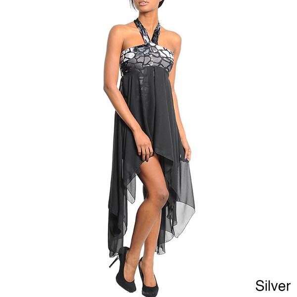 Stanzino Women's High-low Halter Party Dress