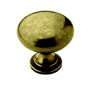 Amerock Traditional 1.25-Inch Burnished Brass Cabinet Knob (Pack of 5)