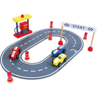 Discoveroo Wooden Car Racing Set