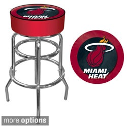Officially Licensed NBA Vinyl-Padded Metal Swivel Bar Stool