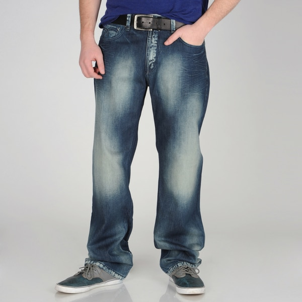 X-Ray Jeans Men's Faded Wash Blue Denim Jeans