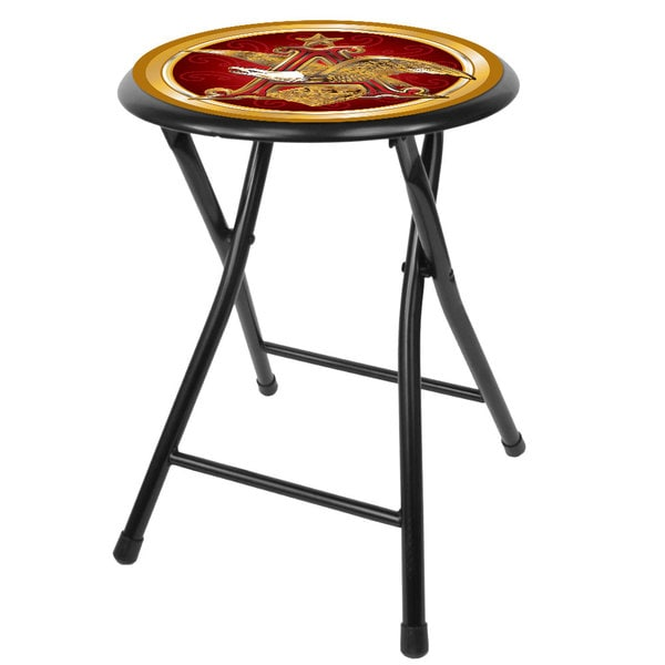 Budweiser Black 18-inch Folding Stool