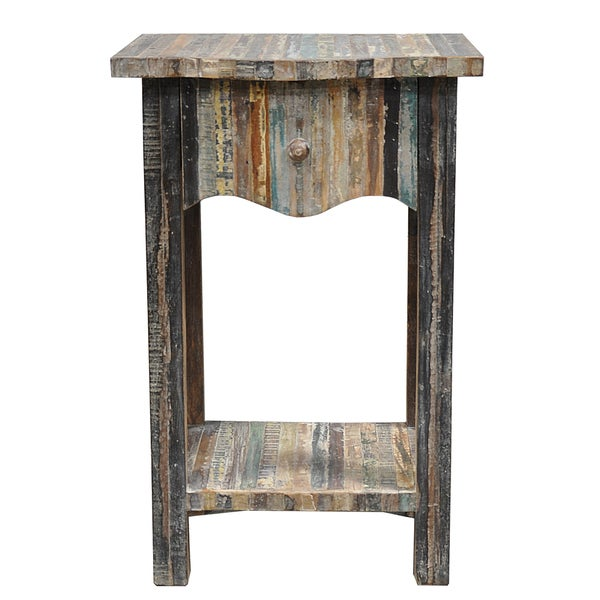 Kosas Home Soli One-Drawer Reclaimed Wood Table