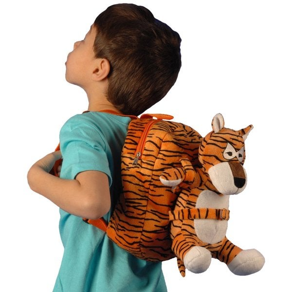 Tag Along Teddy Small Plush Tiger Backpack