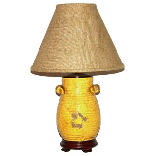 Crown Lighting 1-light Distressed Honey Mustard Table Lamp