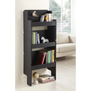 Furniture of America 3-piece Black Stackable Display Shelf