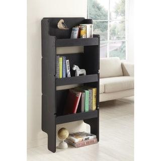 Furniture of America 3-piece Black Stackable Display Shelf