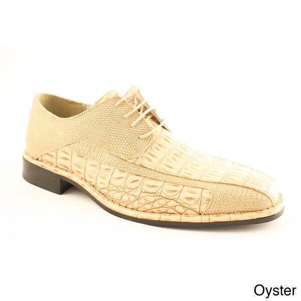 Island Footwear Men's '1217' Faux Croc Dress Shoes