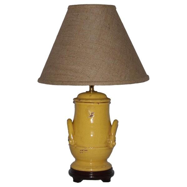 Distressed Honey Mustard Handle Table Lamp