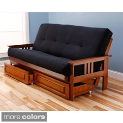 Somette Beli Mont Storage Full-size Futon with Suede Mattress