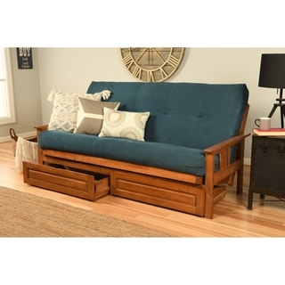 Charmant Somette Beli Mont Wood And Suede Mattress Full Sized Storage Futon (3  Options Available