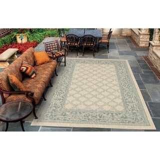 Couristan Recife Garden Lattice/Natural-Green Indoor/Outdoor Area Rug - 2' x 3'7