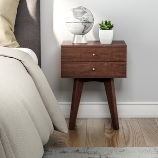 Carson Carrington Jones Wenge 2-drawer Nightstand