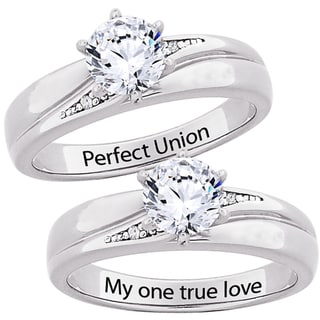 Sterling Silver CZ 'My one true love' or 'Perfect Union' Ring