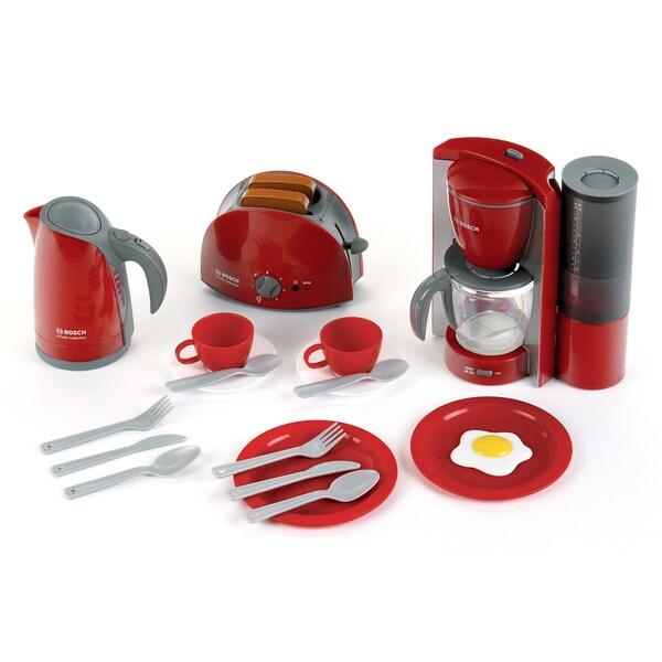 Theo Klein Bosch Red Plastic Breakfast Toy Set