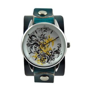 Nemesis Women's Plant Art Leather Strap Watch