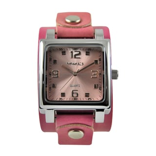 Nemesis Limited Edition Women's Pink Leather Strap Watch