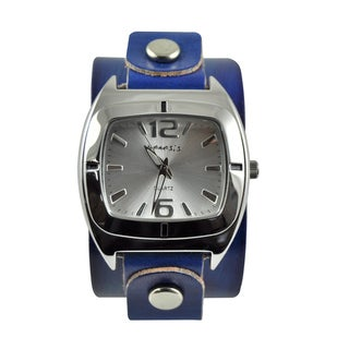 Nemesis Women's Retro Vintage Blue Leather Strap Watch