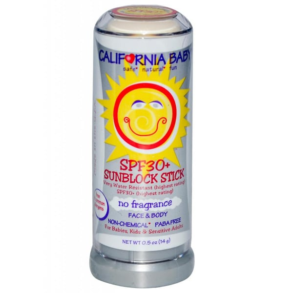 California Baby No Fragrance SPF 30+ 0.5-ounce Sunscreen Stick