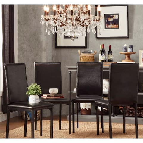 Darcy Metal Upholstered Dining Chair (Set of 4) by iNSPIRE Q Bold - Dining Chair