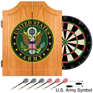 U.S. Army Wood Dart Cabinet Set (2 options available)