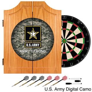 U.S. Army Wood Dart Cabinet Set (Option: U.S. Army Digital Camo Wood Dart Cabinet Set)