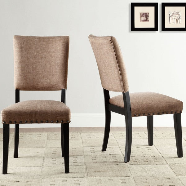 presidio rustic brown vintage industrial modern dining chair set of 2 free shipping today. Black Bedroom Furniture Sets. Home Design Ideas