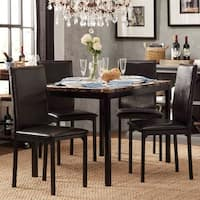 Darcy Faux Marble Top Black Metal 5-piece Casual Dining Set by iNSPIRE Q Bold