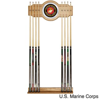 United States Military Wood and Mirror Wall Cue Rack